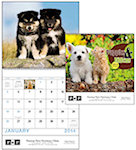 Puppies and Kittens Spiral Wall Calendars